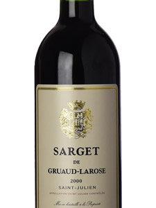 Sarget de Gruaud Larose 2011  Deuxième vin